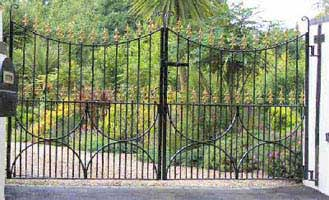wrought iron estate gate in west sussex