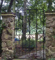 a bespoke wrought iron side gate in surrey