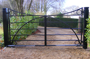 estate gates in Surrey