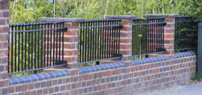 Wrought iron railings balconies east west sussex surrey for Low balcony wall