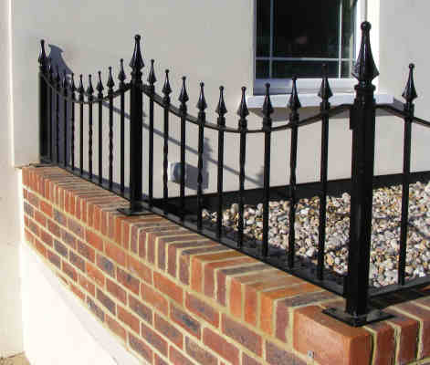 railings on wrought iron railings wall mounted in redhill surrey